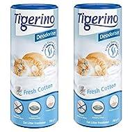 Tigerino Deodorizer, Fresh Cotton - 2 X 700g Powdery Floral Fragrance With Vanilla, Jasmin And Viole...