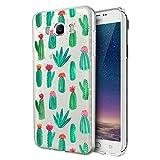 Funda Samsung Galaxy J5 2016, Eouine Cárcasa Silicona 3D Transparente con Dibujos Diseño Suave Gel TPU [Antigolpes] de Protector Case Fundas para Movil Samsung J52016-5,2 Pulgadas (Cactus)