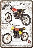 Montesa Moto Cross Cappra Vintage Placa Vintage Metal Cartel de Chapa Cartel Póster de Pared Decorativas Hojalata Signo para Café Bar Película Regalo Boda Cumpleaños
