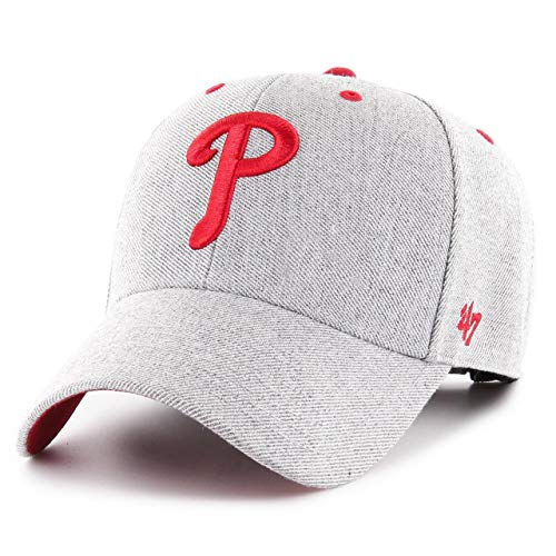 47 Brand Philadelphia Phillies Storm Cloud MVP Adjustable MLB Cap Grau, One Size