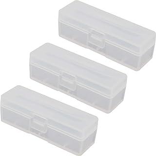 オーディオファン 18650用 バッテリーケース Battery case ハードプラスチック クリア 3個セット