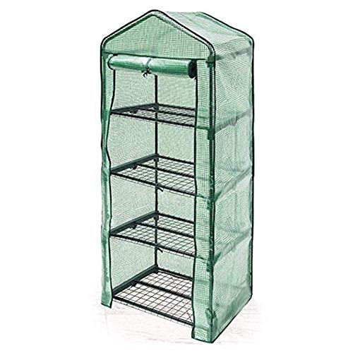 Gardening Greenhouse Mini Greenhouse Transparent PVC Crypto Weaving 2/4 Layer Flower Stand Seedling Cultivation Change Shoes Rolling Door Zipper