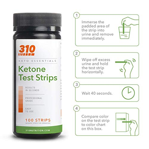 Ketone Testing Strips by 310 Nutrition (100 Strips) - Test Ketosis Levels During Low Carb Keto Diet - Accurate Urine Test for Ketogenic Measurement 3
