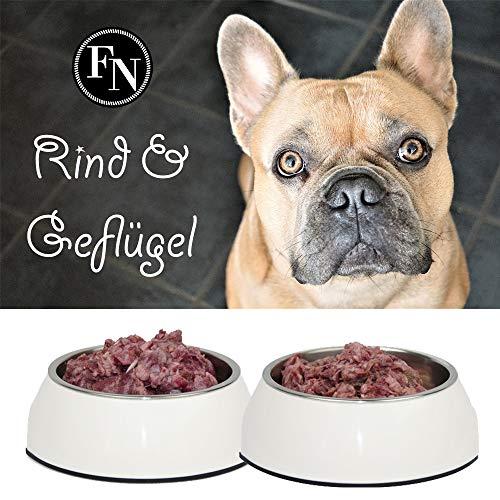 Frostfutter Nordloh > Rind und Geflügel < 50 x 500 g (25 kg), Barf Hundefutter gefroren, Frostfleisch-Paket, Gefrierfutter-Set für Hunde zum barfen, Frischfleisch