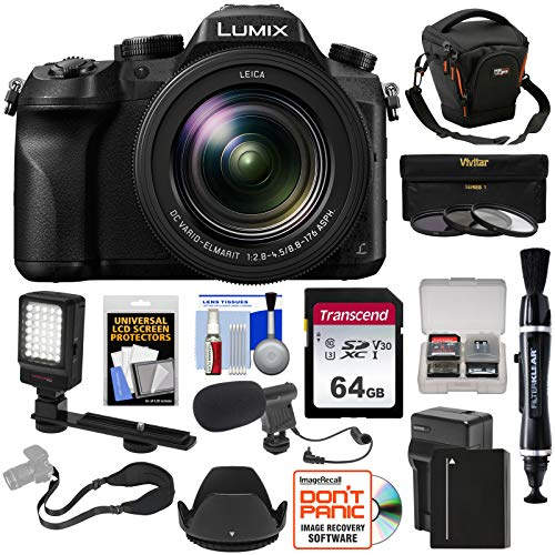Panasonic Lumix DMC-FZ2500 4K Wi-Fi Digital Camera with 64GB Card + Battery &...