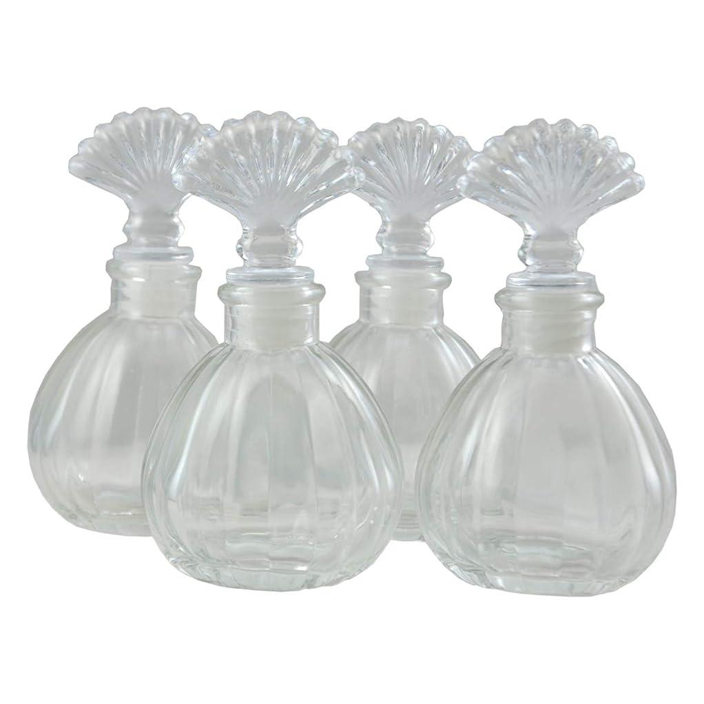 努力入学するダイアクリティカル4本入エッセンシャルオイルガラスディフューザーボトル150MLの香りのアクセサリー (かぼちゃの形)