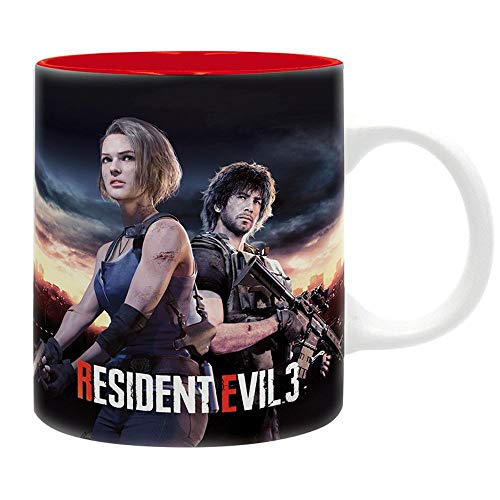 Resident Evil - Tasse Kaffeebecher - RE 3 Remake Logo - Nemesis - Geschenkbox
