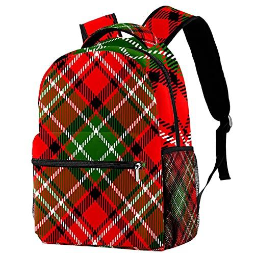 Zaino per bambini per ragazzi e ragazze zaino per la scuola carino zaini per elementare o asilo unico progettato scuola borsa 16 pollici scuola zaino Plaid, Red Plaid 6, 29.4x20x40cm, Zaini Daypack