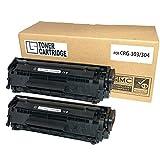 [エルエス] CANON キャノン 【CRG-303 / CRG-304 共通 (ブラック/2本セット)】 互換 トナーカートリッジ [対応プリンター:Satera] LBP3000 / LBP3000B / D450 / MF4010 / MF4100 / MF4120 / MF4130 / MF4150 / MF4270 / MF4330d / MF4350 / MF4370dn / MF4380dn / MF4680