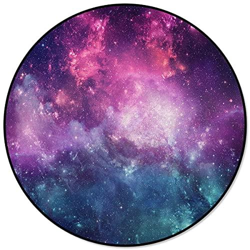 Cielo stellato Rotondo Soggiorno Tappeti Aree domestiche Camera da letto Tappetino Tappetino Home Decor 120x120cm