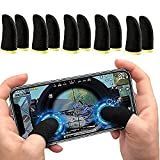 ☑️[High sensitivity] The conductive fiber finger sleeves make it become more sensitive to the mobile phone screen and comfortable, which will help you improve the gaming experience. ☑️[Elasticity] As these mobile game controller finger sleeves has hi...