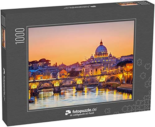 Puzzle 1000 Teile Nachtansicht des Petersdoms in Rom, Italien - Klassische Puzzle mit edler Motiv-Schachtel, Fotopuzzle-Kollektion 'Italien'