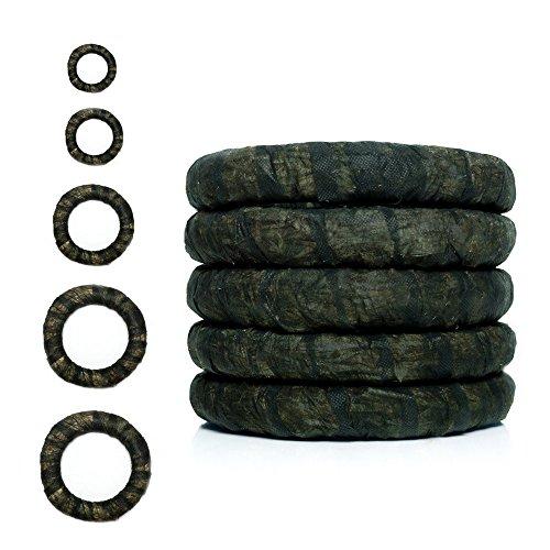 DekoPrinz Strohkränze mit Vlies, 5 Stück | ø 25 cm Durchmesser, 4 cm Stärke Strohrömer, Türkranz, Deko-Kranz, Kranz-Rohling, Strohring