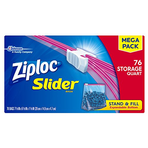Why Should You Buy Ziploc Slider Stand-and-Fill Storage Bags, For Food, Sandwich, Organization and M...