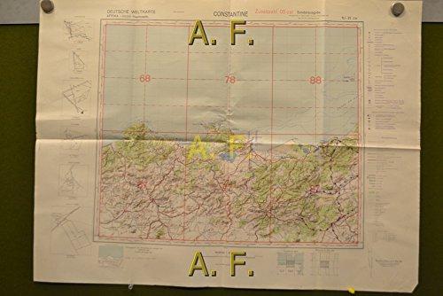 Constantine, Afrika, Deutsche Weltkarte, Fliegerausgabe, Zusatzzahl 03 ost, NJ-32 SW, 1 : 500.000
