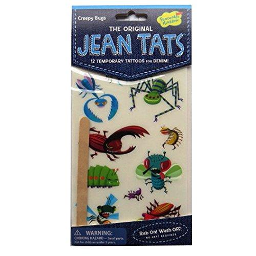 L'original Jean / Denim / Tissu Tatouages - Insectes Rampants - par Peaceable Kingdom