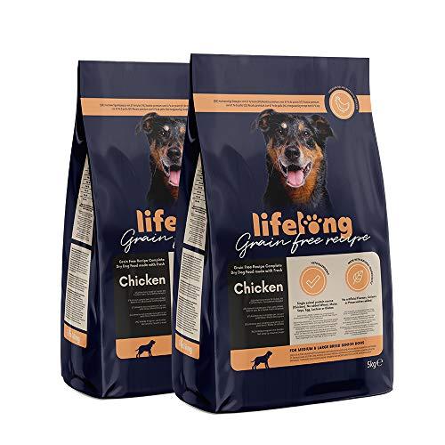 Amazon-Marke: Lifelong Alleinfuttermittel für ältere hunde mittelgrosser und grosser rassen mit frischem Huhn Getreidefreie Rezeptur - 5kg*2