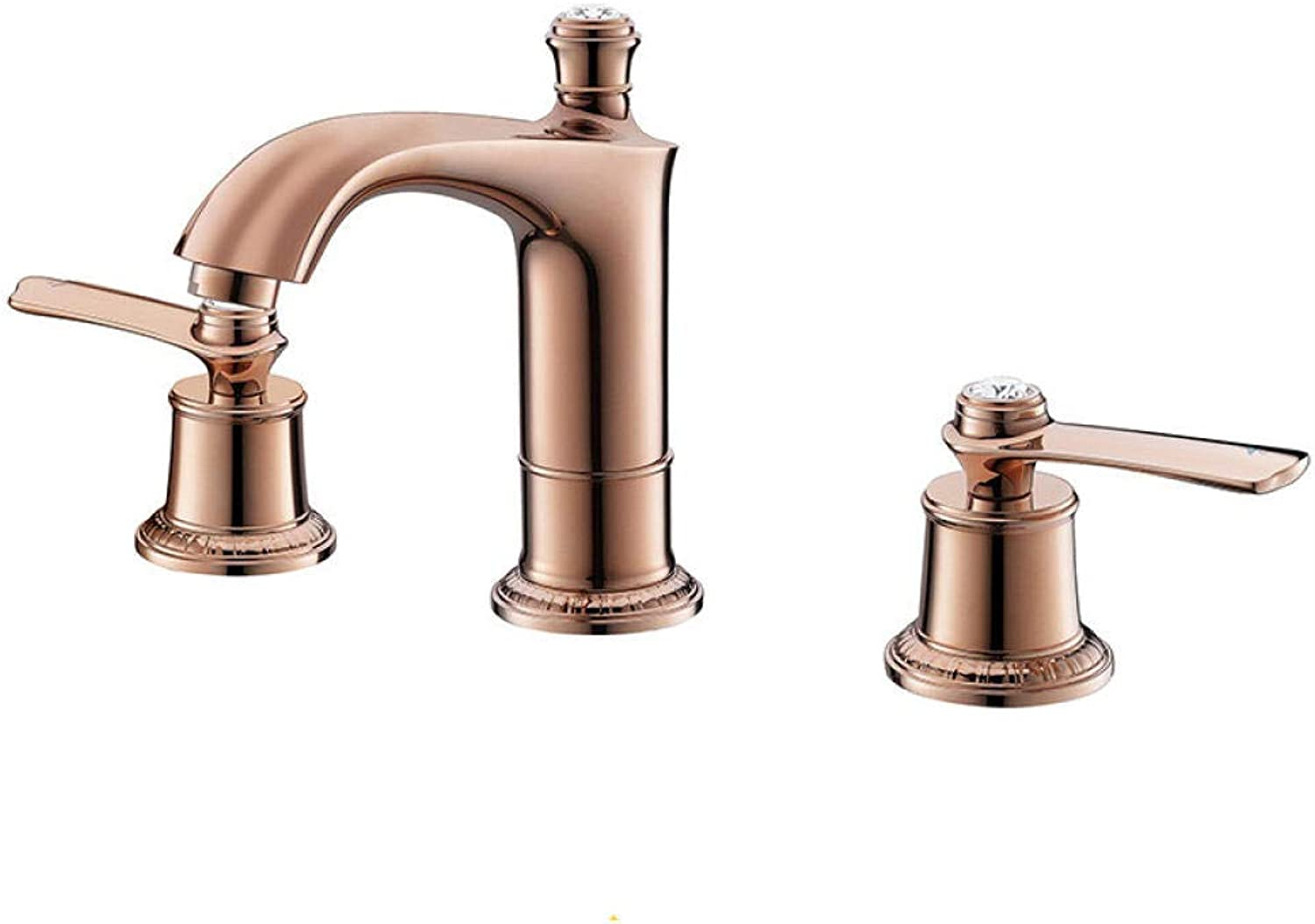 Aimeishi Hot and cold water faucet split type hot and cold wash basin faucet bathroom triple double basin@800811M
