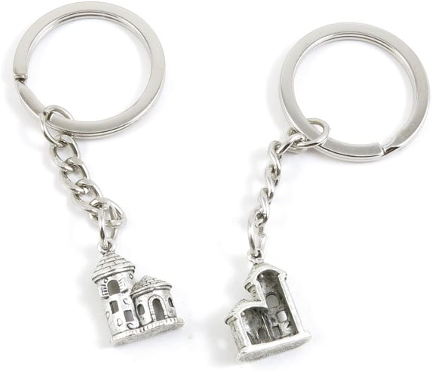 190 Pieces Fashion Jewelry Keyring Keychain Door Car Key Tag Ring Chain Supplier Supply Wholesale Bulk Lots B5TC2 Castle