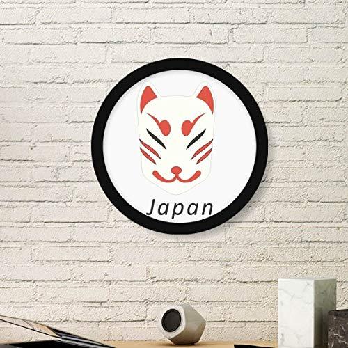 DIYthinker Traditionele Japanse Lokale Vos Masker Rond Beeld Frame Art Prints Van Schilderijen Thuis Muursticker Gift