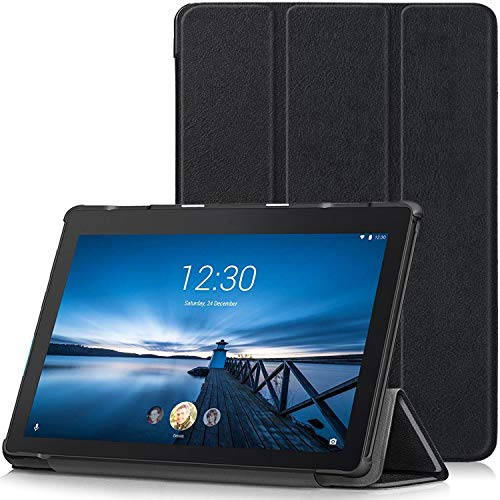 TTVie Case for Lenovo Tab E10, Ultra Slim Lightweight Smart Shell Stand Cover for Lenovo Tab E10 10.1' Tablet 2018 Release, Black