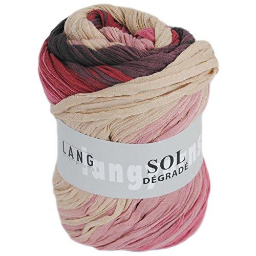 sol degrade wolle - sol degrade 62 in den Farben lila, rosa und creme - Wolle von Lang Yarns - sol degrade 783.0062 - bändchengarn für tolle farbverläufe - sol degrade lang yarns- sol degrade (Fb 62)
