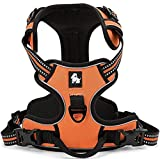 fiE FIT INTO EVERYWAY Range Of Front Side No Pull Dog Harness Outdoor Adventure 3M Reflective Pet Vest with Handle Adjustable Protective Nylon Walking Pet Harness Orange M