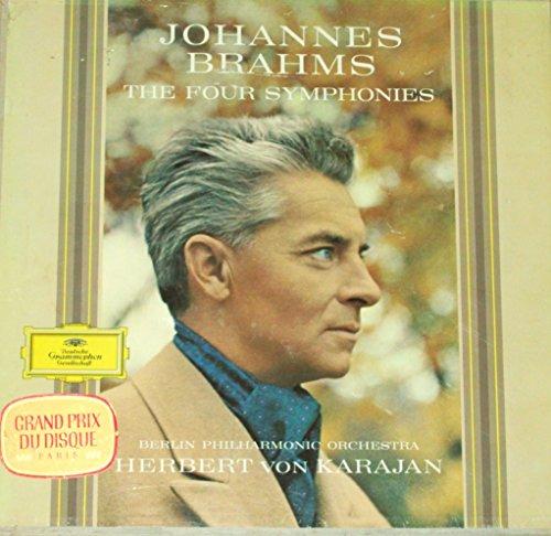 "Brahms - The Four Symphonies - 12"" vinyl 4 LP BOX - Karajan DGG tulips SKL 133/136 Alle Hersteller"