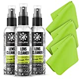 Calyptus Eyeglass Lens Cleaner Spray Kit   Plant Based and USA Made   6 Ounces + 3 Cloths   Streak and Alcohol Free   Specially Crafted Glasses Cleaner   Safe for All Lenses
