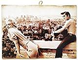 KUSTOM ART Cuadro de estilo vintage Marilyn Monroel & Elvis Presley de colección, impresión sobre madera