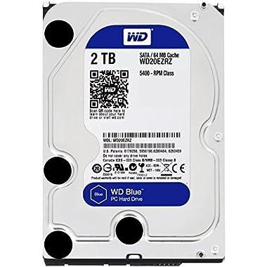 WD Blue 2TB PC Hard Drive - 5400 RPM Class, SATA 6 Gb/s, 64 MB Cache, 3.5  - WD20EZRZ