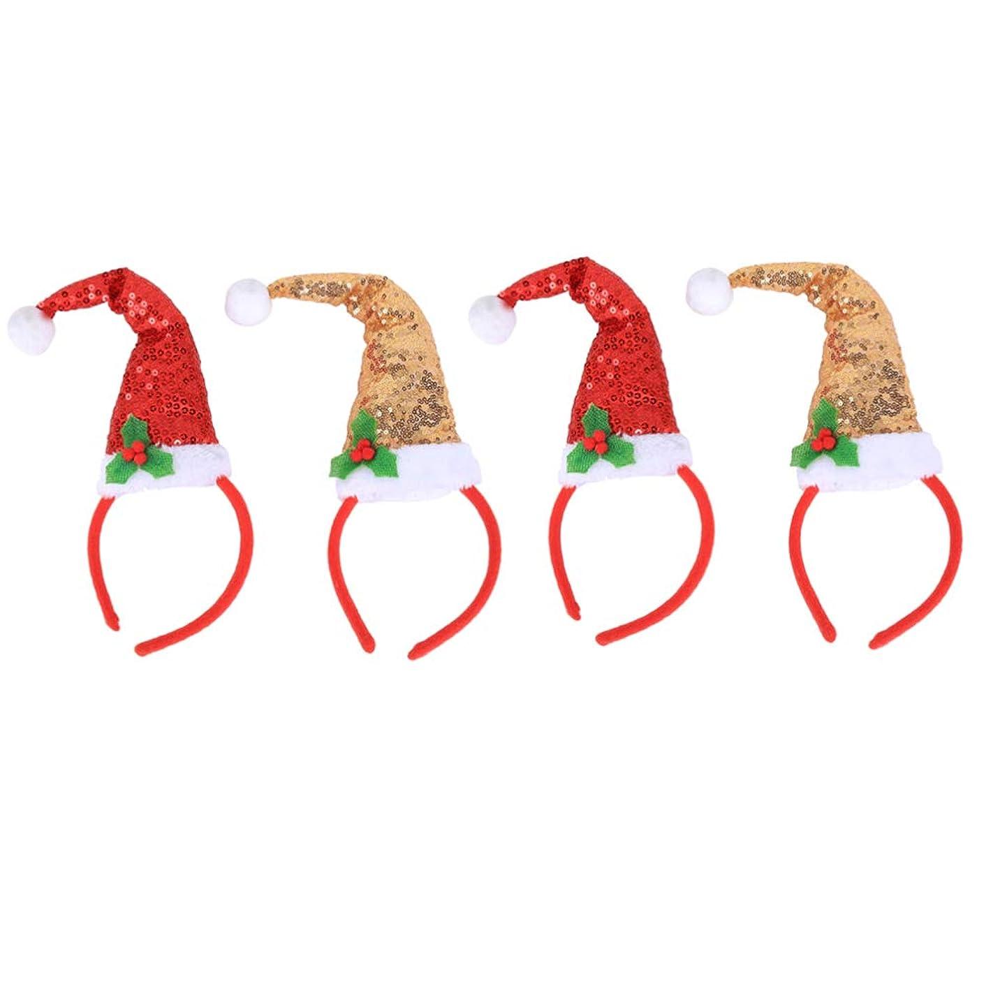 満員警告するアカデミックLurrose クリスマス帽子ヘアバンドクリスマスヘッドバンドヘアバンドヘッドボッパーズヘアアクセサリー用クリスマスパーティー用品4ピース