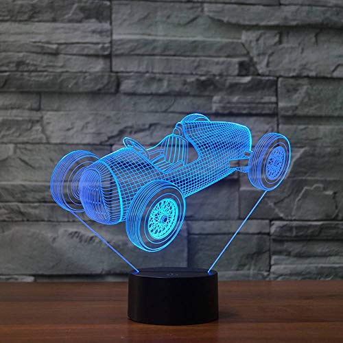 GBBCD Nachtlicht Gran Torino Touch Wecker Tischlampe 7 Farbwechsel Schreibtischlampe 3D Lampe Neuheit Led Nachtlichter Todesstern Led Licht
