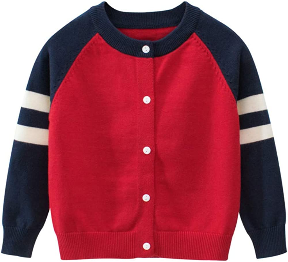 Baby Boys Girls Button-Down Cardigan Toddler Cotton Knit Sweater 1-8t Kid