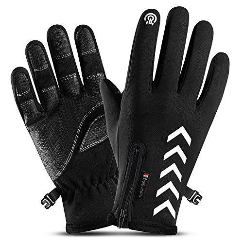 HOMFUL Mens Waterproof Gloves Winter Touchscreen Gloves Lightweight Windproof Anti-Slip Non-Slip Gloves Outdoor Sports Gloves Warm Running Cycling Work Gloves