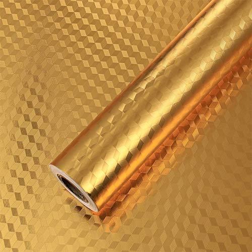 BLOUR Pegatinas Impermeables a Prueba de Aceite de Cocina de Varios tamaños, Papel de Aluminio, Estufa de Cocina, Armario, Adhesivo Autoadhesivo para Pared, Papel Tapiz DIY