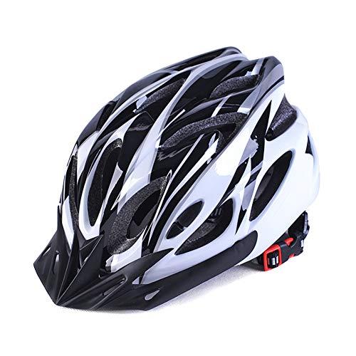 Vtops Casco de Bicicleta para Adultos Bicicleta de montaña Moldeado integralmente para Bicicleta Bicicleta Ciclismo Hombres Mujeres (Black White)