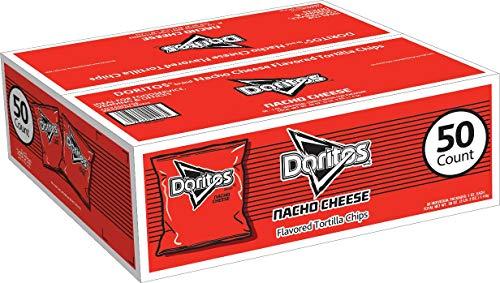 Doritos Nacho Cheese Flavored Tortilla Chips, 1 Oz Bags (50Count) - SET OF 2
