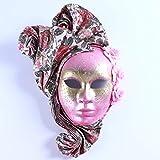 YU Feng Máscaras de Disfraces pintadas a Mano, Disfraces venecianos con Elegante decoración, Rosa,...