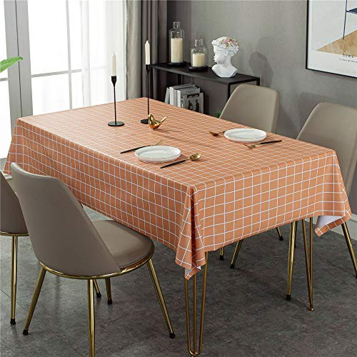 SONGHJ Classic Plaid Tablecloth, Pvc Rectangular Waterproof And Oil-Proof Table Cloth Tablecloth