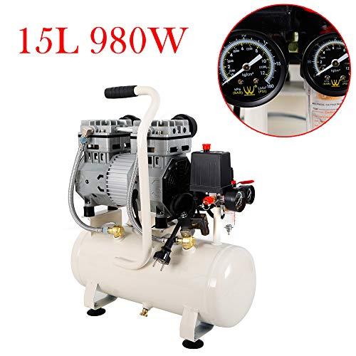 Compressor olievrije 15 l luchtcompressor stille perslucht ketel 980 W 220 V