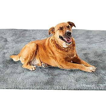 Vejaoo Couverture Animale Doux et Chaud Couverture Housse Coussin Tapis Lavable pour Chien Chat XZ005 (100 * 120CM, Light Grey)