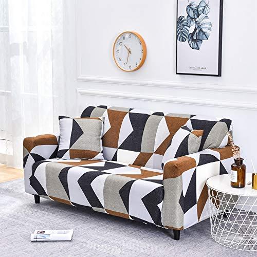 Fundas de sofá Florales para Sala de Estar Funda elástica Fundas de sofá de Esquina seccionales Fundas Antideslizantes para Muebles Funda Protectora A16 de 3 plazas
