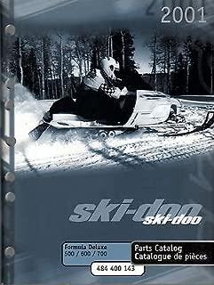 2001 SKI-DOO FORMULA DELUXE 500, 600, & 700 PARTS MANUAL P/N 484 400 143 (207)
