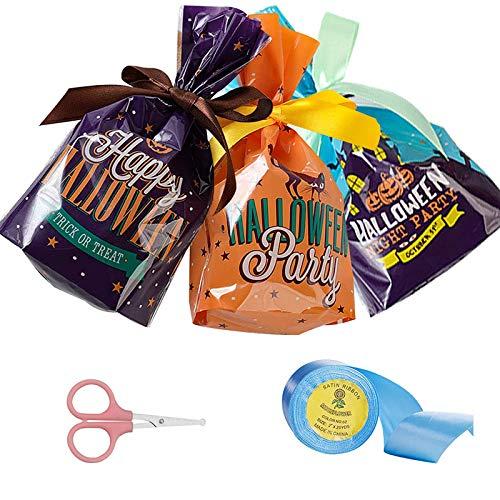 0BEST プレゼント袋 ラッピング袋 (リボン+はさみ)ハロウィン クリスマス バレンタインデー パーティー