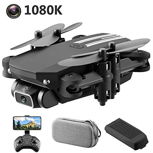 SBUNA FPV RC Drohne Bausatz mit 1080P Full HD 120° Weitwinkel Kamera, Leicht und Tragbar Quadrocopter, 2.4G WiFi Follow me, Kopflos Modus, App-Steuerung, Speed-Modus, längere Flugzeit,Schwarz