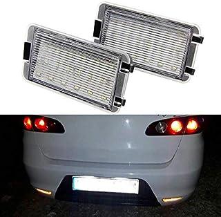 Nslumo Lot de 2 ampoules 18 LED blanches pour plaque dimmatriculation F`ord Fusion Fiesta Mondeo