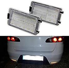 Luz LED para matrícula trasera de coche, color blanco
