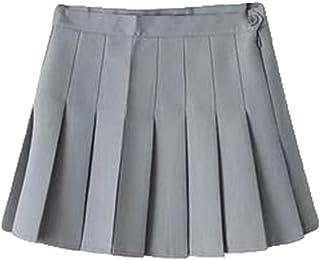Faldas de Escuela de Tenis para niñas Mini Faldas Plisadas con Cintura Alta de Mujer