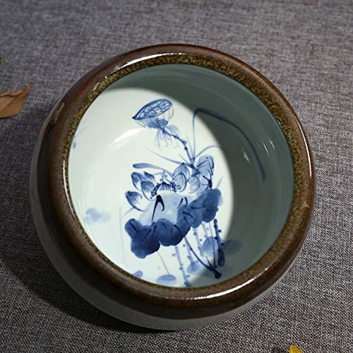 Golden_flower Obstschale, Teller, Handbemaltes Blaues Aquarium Tee Zum Waschen von Früchten Wohnzimmerausstattung für Kekse, Süßigkeiten, Backwaren, Party-Snacks, c